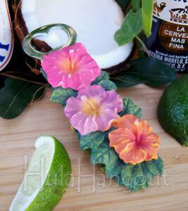 Bottle Opener Hawaiian Hibiscus Flower Tiki Bar Island gift Brand New