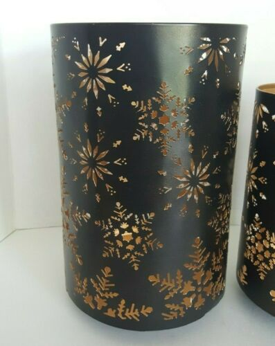 Bath /& Body Works Metal Hurricane Luminary 3-Wick Candle Holder Select Style