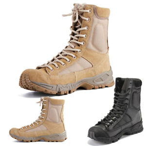Outdoor-Shoes-Hiking-Mens-Leather-Tactical-Boots-Military-Combat-Army-SWAT-Boots