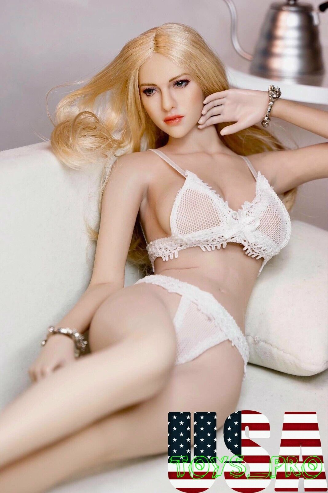 PHICEN 1/6 Super-Flexible Seamless American Beauty Blonde Hair Doll Set ❶USA❶