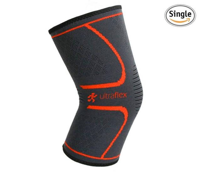 Ultra Flex Athletics Knee Compression Sleeve Single Wrap, Black Red, Small for sale online | eBay