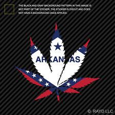 Arkansas Flag Weed Marijuana Leaf Sticker Self Adhesive 420 hemp