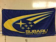Rally Subaru Banner Flag ~ Solberg WRT McRae World Impreza WRX STI Forester BRZ