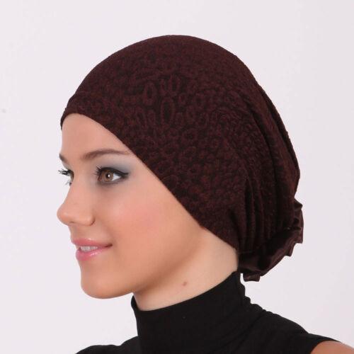 US Seller NEW Women Bonnet Cancer Chemo Hijab Turban Cap Beanie Hat Scarf Lace .