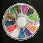 New DIY Nail Art Tips Charm Gems Crystal Glitter Rhinestones 3D Decoration Wheel