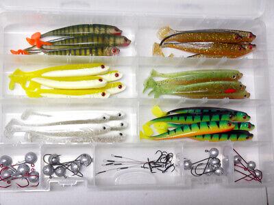 MB Fishing Stint Shad BOX 12,5 cm incl Jig /& Stinger Zander Gummifisch Zander
