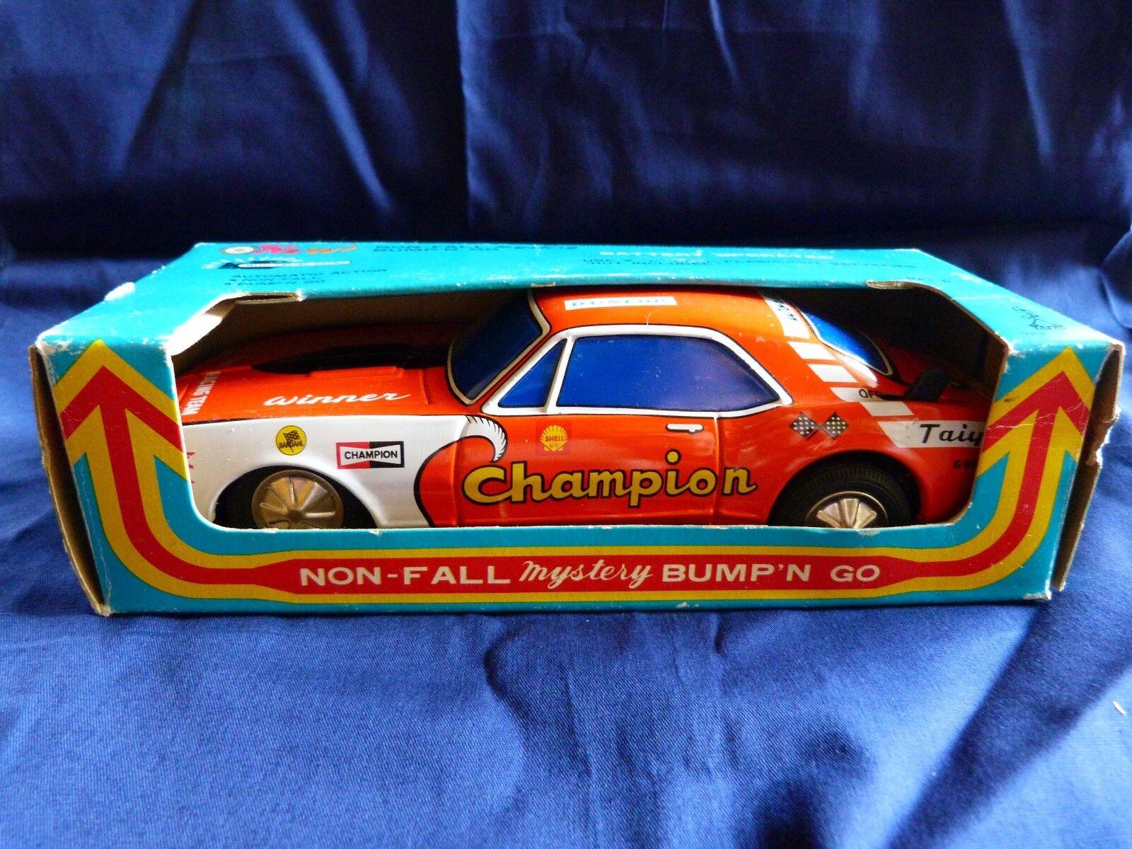 perfecto Taiyo Japon 1970 - The racer Chevrolet Camaro Camaro Camaro  Champion  en tôle lithographiée  la red entera más baja