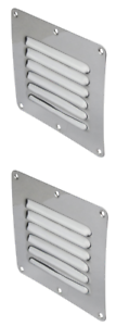 Air-Vent-Caravan-Wall-Eave-House-Stainless-Steel-x-2-Air-Vents-127mm-x-115mm-New