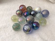 SELECTION OF VINTAGE DECORATIVE GLASS BALLS / MARBLES