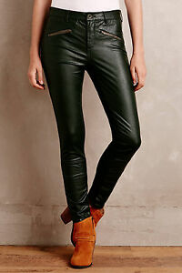 f6a9d6cc922c92 Pilcro Vegan Leather Moto Pants Size 31 Holly (Green) Color NW ...