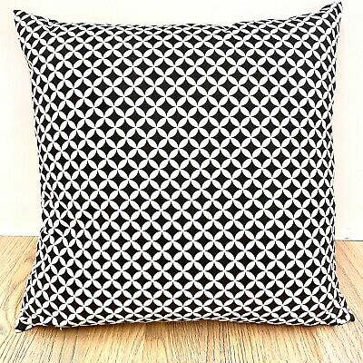Handmade Black and white 100/% Cotton Cushion Cover.Various sizes