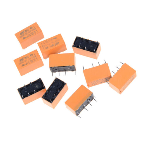 10Pcs HK19F-DC12V-SHG DC 12V coil dpdt 8pin pcb realplay power relay·