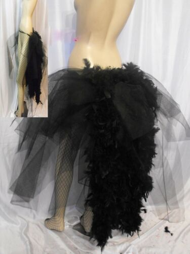 Big Rainbow Burlesque Layer Bustle Belt Feathers Carnival Pride size s Xxxxxxl
