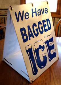 Details About We Have Bagged Ice Coroplast Sandwich Board Sign Kit