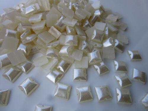 100 Perlen 8mm Elfenbeinweiß Halbperlen Rund Dekoperlen Wachsperlen Elegante