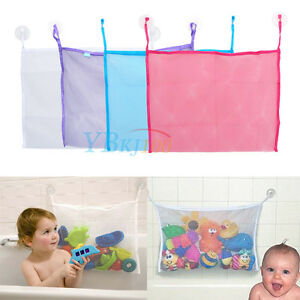 baby bath bathtub toy mesh net storage bag organizer holder bathroom organiser ebay. Black Bedroom Furniture Sets. Home Design Ideas