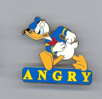 Disney Shopping Expression Series Donald Duck Walking Angry Le 250 Pin Card Ebay