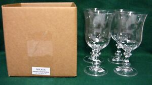 Mikasa-FRENCH-COUNTRYSIDE-Ice-Tea-Glasses-SET-of-FOUR-Mint-in-Box-More-Available