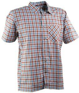 Race-Face-Shop-Shirt-Large-Blue-Rust-Brown-Plaid