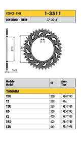 1-3511-CORONA-PASSO-520-YAMAHA-FZ-400-1987-1988-1989