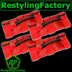 Deluxe-Extreme-RED-Roll-Bar-Grab-Handle-4pcs-for-77-16-Jeep-Wrangler-JK-TJ-YJ-CJ