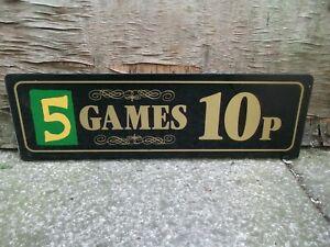Vintage-amusement-arcade-acrylic-perspex-sign-Man-cave-2