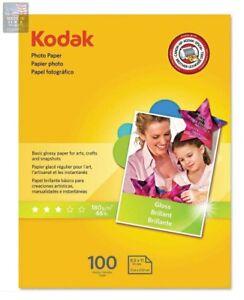 Kodak-Inkjet-Glossy-Photo-Paper-8-5-034-x-11-034-100-Sheets