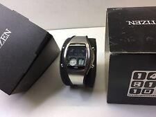 SS Black Citizen Independent C351 Ana-Digi 1481010 Digital LCD watch uhr MOT
