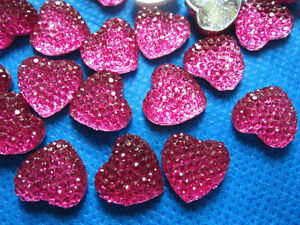 10 x 14mm BRIGHT PINK HEART FLAT BACK RESIN GEMS HEADBANDS BOWS CARD MAKING - DONCASTER, South Yorkshire, United Kingdom - 10 x 14mm BRIGHT PINK HEART FLAT BACK RESIN GEMS HEADBANDS BOWS CARD MAKING - DONCASTER, South Yorkshire, United Kingdom