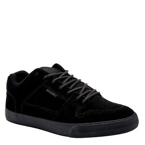 16ad243110ee ANIMAL MENS TRAINERS.ELLIS ALL BLACK SUEDE PADDED SKATE SHOES.RUBBER ...