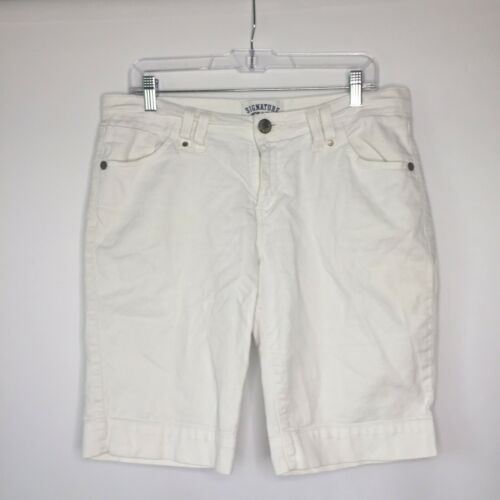 Signature By Levi Strauss Misses 12 White Jean Den