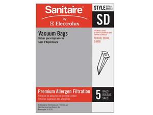 Genuine Eureka Style SD Vacuum Bags Cloth HEPA Type OEM 63262B-10 SC9150 SC9180