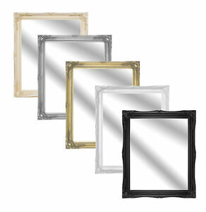 2-Inch-Ornate-Swept-Antique-Effect-Framed-Mirror-In-Various-Colours-and-Sizes