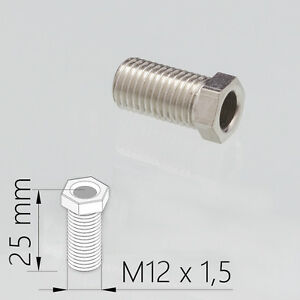 M12-x-25-mm-Hohlraumschraube-Hohlschraube-Loch-Schraube-fuer-Spuele-Korbventil