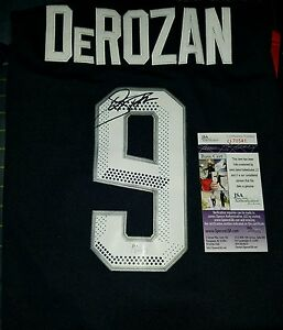 outlet store 0f2b9 c1228 Details about Demar Derozan (USA) Signed Olympic Jersey Size XL in Person.  JSA CERTIFIED