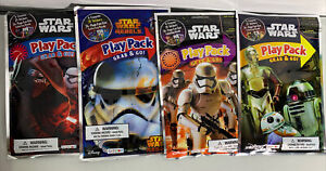 Set 4 Star Wars Play Pack Grab & Go Stickers Crayons