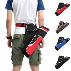 3-Tube-Arrow-Holder-Archery-Quiver-Adjustable-Waist-Shoulder-Belt-Pouch-Bag