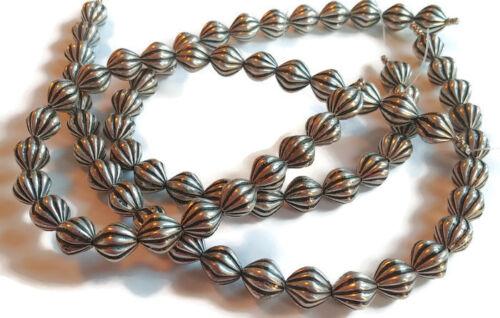 25 Antique Silver Corrugated Lantern CCB Acrylic Beads 10.0mm x 11.0mm