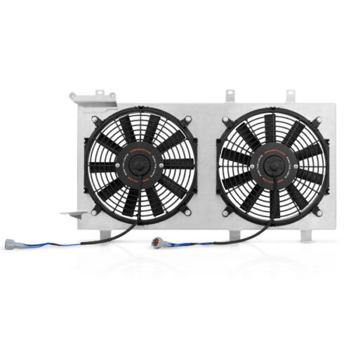 "Mishimoto Dual 12/"" Slim Cooling Fans Aluminum Shroud for 02-07 Subaru WRX//STi"