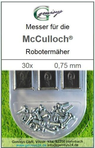 30 Remplacement-Couteau Lames 0,75 mm pour McCulloch Rob r600 r1000 Mc CULLOCH NEUF