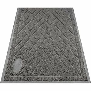 Pawkin Phthalate Free Cat Litter Mat - Patented Design With Litter Lock Mesh - -