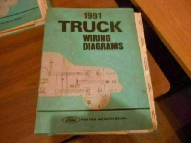 1991 Ford Econoline Truck Wiring Diagram Schematic Oem Cl475