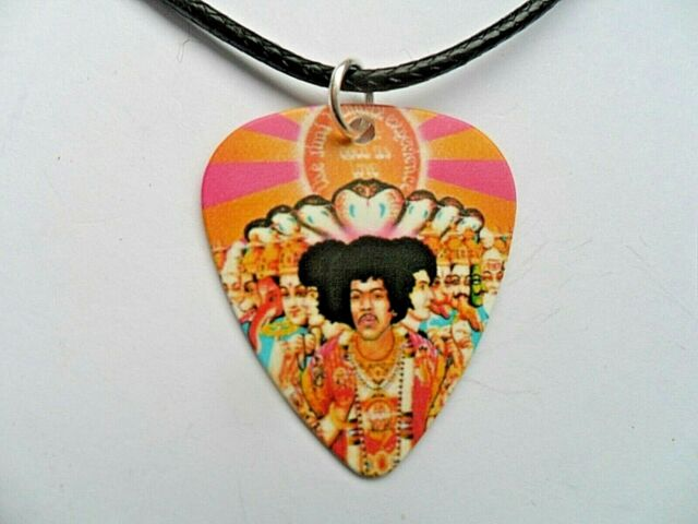 Guitar Pick //// Plectrum   Keyring with a Jimi Hendrix Pick Choice of Eight
