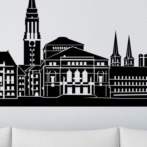 Skyline murale mural Augsbourg Bamberg Karlsruhe Mannheim ratisbonne