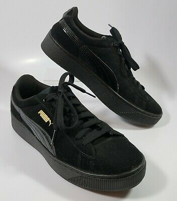 puma womens classic all black casual shoes sneakers soft