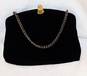EVENING-BAG-BLACK-FABRIC-Pre-Owned