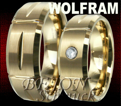 NEU WOLFRAM RINGE TRAURINGE EHERINGE PARTNERRINGE HOCHZEITSRINGE VERLOBUNGSRINGE