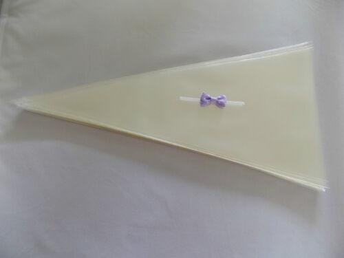 CONO TRASPARENTE Borse /& A Pois Spot pre-legato GROS Grain Nastro Fiocco Cravatte Twist