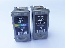 2x Druckerpatronen XL für Canon MP 210 PG-40 & CL-41