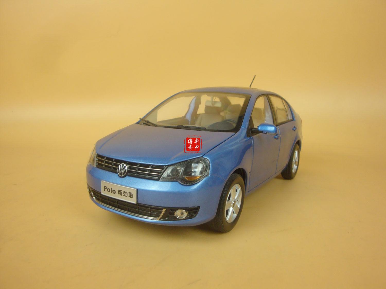 1 18 Volkswagen Nouvelle Polo jinqu berline couleur bleue Diecast Modèle + petit eau